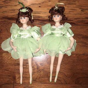 2 PC BUNDLE: Porcelain Ballerina Dolls